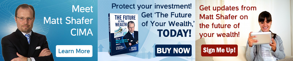 "Mett Matt Shafer, the author of ""The Future of Your Wealth"" and sign up for his blog to receive updates in your inbox on the future of your wealth."
